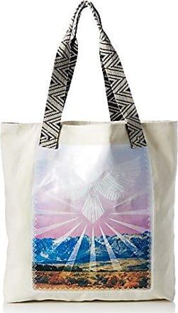 Damen Beach Dayz Tote Handtasche Henkeltasche, Schwarz (Black White), 15x32x68 cm Volcom