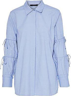 W118 By Walter Baker Woman Ashlee Poplin Shirt Light Blue Size M W118 by Walter Baker