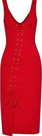 W118 By Walter Baker Woman Rose Lace-up Stretch-jersey Dress Navy Size XS W118 by Walter Baker