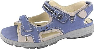 WALDLÄUFER GARDA 210001186150 Damen Sandalette, Weiß 44,5 EU in Übergrößen