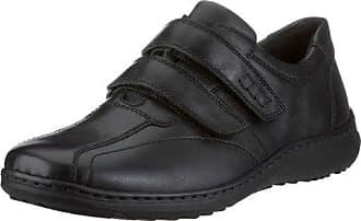 Waldläufer Herwig 478002 Ama174 001 - Zapatos de cordones de cuero para hombre, color negro, talla 44.5