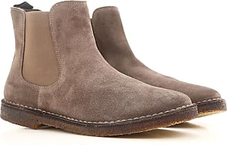 Boots for Men, Booties On Sale, Medium Grey, Suede leather, 2017, 9 Wally Walker