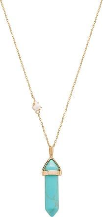 Wanderlust + Co x REVOLVE Celeste Opal Necklace in Metallic Gold