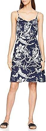 Warehouse Swan Print Channel, Vestido para Mujer, Azul (Marino), 34