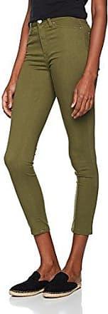 Crop Cut, Jean Skinny Femme, Vert (Khaki 28), 44(Taille du Fabricant: 77)Warehouse