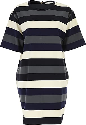 Dress for Women, Evening Cocktail Party On Sale, Dusty Blue, Cotton, 2017, 10 Weekend by Max Mara