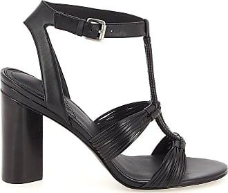 What For Sandales à talon à brides tressées Noir