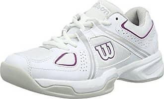 Wilson Femme Chaussures de Tennis, Idéal pour Les joueuses de Tous Niveaux, pour Tout Type de Terrain, Nvision W, Tissu Synthétique, Blanc (White/Aruba Blue/Mint Ice Wil), Taille: 42