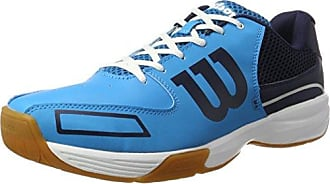 Storm, Zapatillas de Tenis Unisex, Todos los Niveles, Juego Interior, Tejido/sintético, Azul Claro/Azul (Hawaiian Ocean/Navy/White), Talla: 37 Wilson