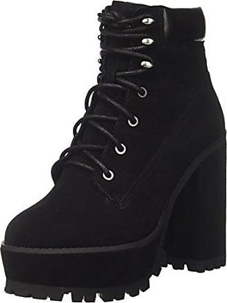 Windsor Smith Foxy, Zapatos de Cordones Brogue para Mujer, Negro (Black Leather), 40 EU