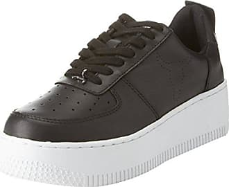 Windsor Smith Damen Racerr Sneaker, Multicolore (Leather Black/White Sole), 40 EU