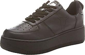 Windsor Smith Racerr, Zapatillas para Mujer, Multicolore (Leather Black/White Sole), 36 EU