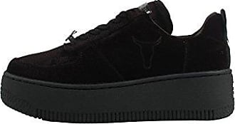 Windsor smith Racerr, Chaussures de Gymnastique Femme, Noir (Black 001), 37 EU