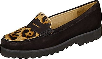 Wirth 246075-01-16529 preto tan Nobuck Pelo Leopard