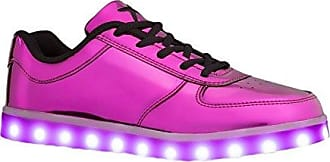 Wize & Ope LED-Pop, Baskets Basses Mixte Adulte, (Purple 7 7), 36 EU