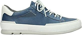 Comfort Sneakers Katla - 30840 Jeans Blau Leder - 36 Wolky