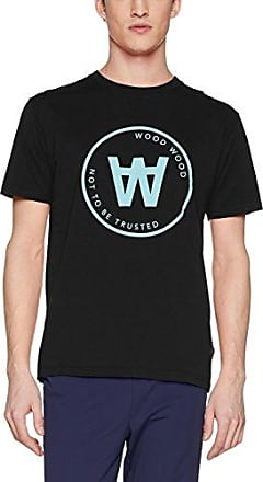 Wood Wood UMA T-Shirt, Camiseta para Mujer, Negro (Black), Small