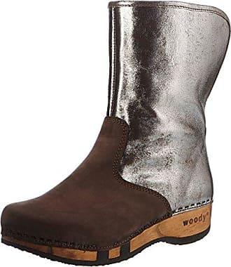 ULLI - Botas Antideslizantes de cuero mujer, color marrón, talla 38 Woody