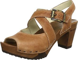 Carolin, Mules femme, Gris (Taupe), 41Woody