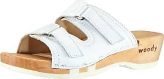 Dr. Brinkmann 703790 - Zuecos de cuero para mujer, color blanco, talla 37 Dr. Brinkmann