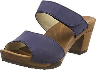 Anja, Zuecos para Mujer, Azul (Abisso 032), 36 EU Woody