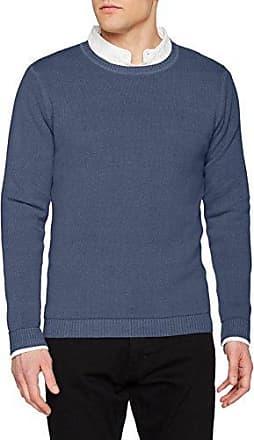 WO2145, Jersey para Hombre, Azul (Avio 028), L Wool & Co