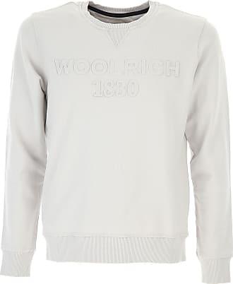Sweatshirt for Men On Sale in Outlet, Blue Melange, Cotton, 2017, EU XL/52 - US L Woolrich