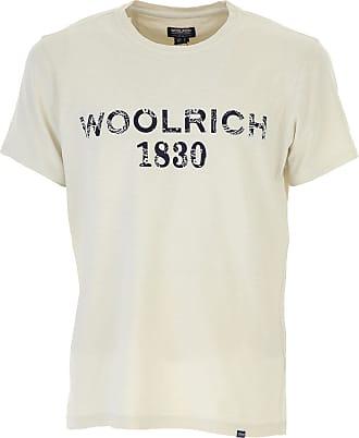 Camiseta de Hombre Baratos en Rebajas, Crema, Algodon, 2017, L XL XXL Woolrich