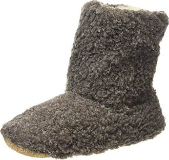 Woolsies Yeti Natural Wool Slipper Booties - Zapatillas con forro unisex, Negro (Black), 38