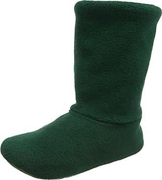 Woolsies Aconca Natural Wool Slipper Booties - Pantuflas con Forro Cálido de Lana Mujer, Color Verde, Talla 39