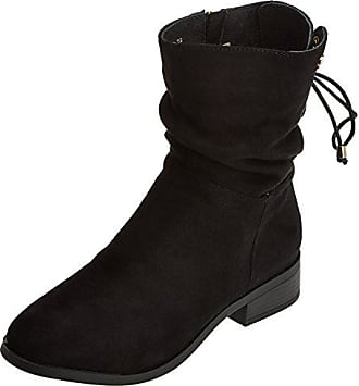 65204, Santiags Femme - Noir - Noir (Black), 38 EUXti