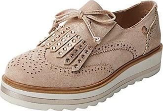 XTI 47799, Zapatos de Cordones Oxford para Mujer, Plateado (Platinium), 38 EU