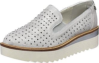 XTI 48026, Zapatillas Sin Cordones para Mujer, Plateado (Platinium), 38 EU