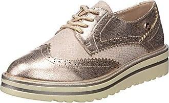 XTI 47799, Zapatos de Cordones Oxford para Mujer, Plateado (Platinium), 41 EU