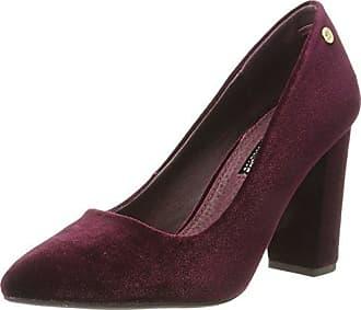 NOE Antwerp Nabla, Zapatos de Tacón con Punta Cerrada para Mujer, Rojo, 37 EU