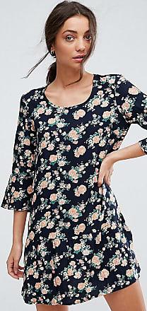 Shanti 3/4 Sleeve Floral Print Dress - Navy blazer with flo Y.A.S. Tall