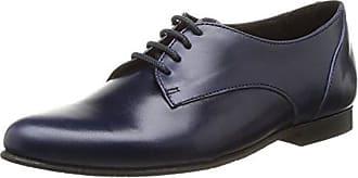 Yep Anne - Zapatos de cordones de cuero para niña azul Bleu (Vernis Bleu) 30