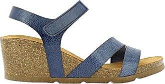 Corsa 048 Vaquetilla Bugui, Sandalias con Plataforma para Mujer, Azul (Marino 006), 39 EU Yokono