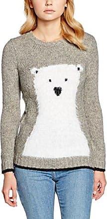 Yumi Polar Bear Intarsia, Jersey para Mujer, Gris (Grey), 40
