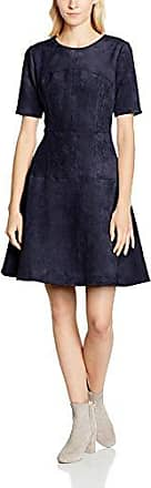 Womens Suedette Panelled Skater Dress Yumi