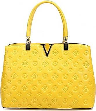 Mode Damen Leder Crossbody Schulter Handtasche Geldb?RSE 13 W x 11 H x 5 D Rot YUNA