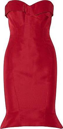 Zac Posen Woman Strapless Paneled Two-tone Duchesse-satin Gown Red Size 8 Zac Posen