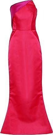 Zac Posen Woman Strapless Paneled Two-tone Duchesse-satin Gown Red Size 2 Zac Posen