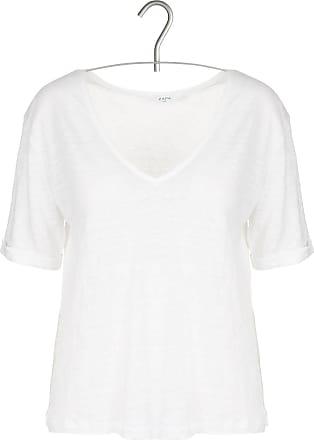 Kurzarm-T-Shirt aus Leinen mit V-Ausschnitt und Tasche Karl Marc John