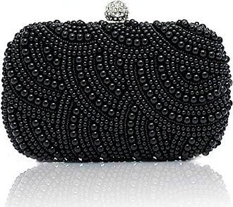 Elegant Handgemacht Mehrfarbig Perlen Beaded Clutch Brauttasche Unterarmtasche Party Abendtasche Zeagoo