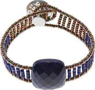 Uomolebole Bracelet for Women, Avio Blue, Silk, 2017, One Size