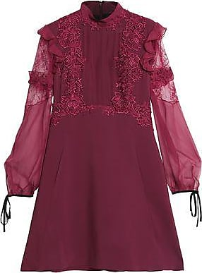 Zuhair Murad Woman Embellished Tulle And Duchesse Silk-blend Satin Dress Violet Size 42 Zuhair Murad