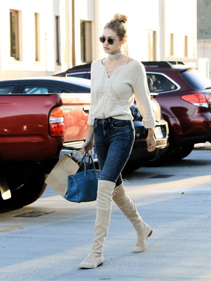 Over-The-Knee Boots Because You're Basically Gigi | Stylight