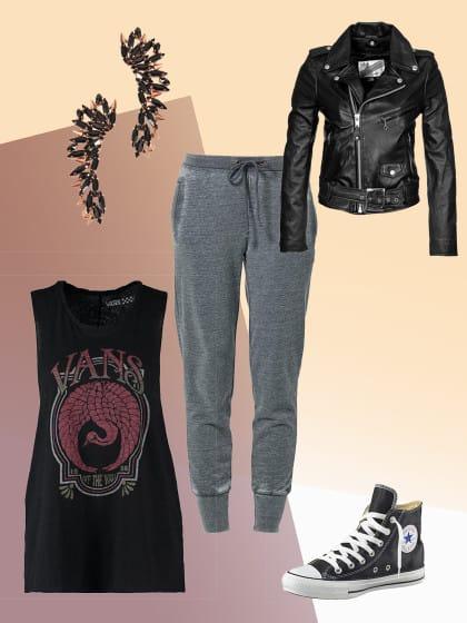 1 teil 5 looks die besten jogginghosen outfits stylight. Black Bedroom Furniture Sets. Home Design Ideas