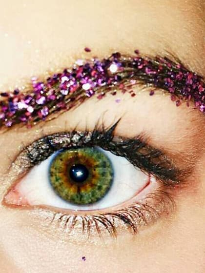 So Glitter Brows Are The Latest WTF Beauty Trend | Stylight